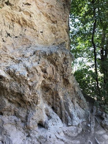 Mur de roche...