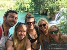 Jacob, Kirsten, Moi, Maddy et Melanie