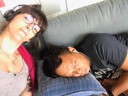 Leujay qui fait la sieste