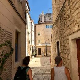 Leujay et moi lors de notre 1re exploration du Vieux Split